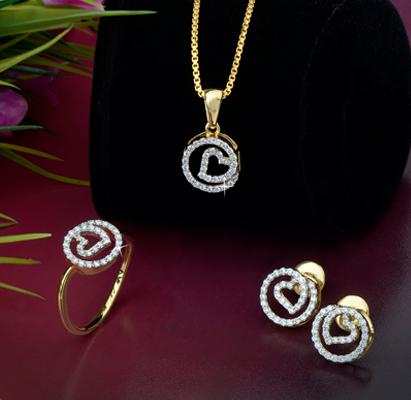 Diamond Pendant Set